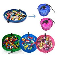 Wholesale free baby toys clothes for sale - Group buy 45cm baby playing mat toys storage bags for children organizer blanket portable kids beach toy storage bag
