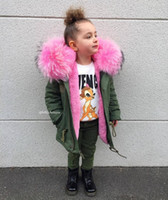2018 Winter Boys Girls Jackets Detachable Faux Fur Liner Children Pink Overcoats Baby Boy Children Winter Outwear For Girls