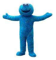 Wholesale Sesame Street Mascots - 2018 Fast Free Shipping Sesame Street Blue Cookie Monster mascot costume Cheap Elmo Mascot Adult Character Costume Fancy Dress