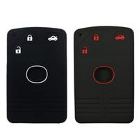 ключ держателя силиконовой карточки оптовых-3buttons силиконовые карты брелок дистанционный протектор Кейли вход держатель чехол для Mazda 6 CX-7 CX-9 RX-8 MX5