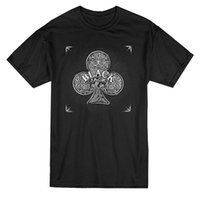 black playing cards Canada - Fitted T Shirts Men'S Short Sleeve Premium O-Neck Blackjack All In Playing Card Clubs Tee Shirts