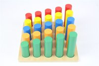 Wholesale baby toys for sale - Group buy Baby Toy Knobless Cylinder Blocks Early Childhood Education Preschool Training Kids Toys Brinquedos Juguetes