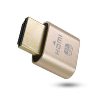 Wholesale Vga Display Adapter - VGA Virtual Display Adapter HDMI DDC EDID Dummy Plug Headless Ghost Display Emulator Lock plate 1920x1080 New generation@60Hz 10pcs lot