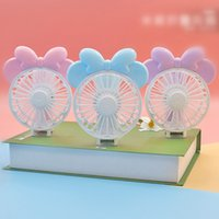 Wholesale folding mouse - Mini Folding Portable Fan Cartoon Mouse USB Rechargeable Foldable Handheld Summer Air Cooler Cooling Fan Portable Fan Party Favor OOA4920