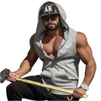 Wholesale top clothing trends resale online - Hot Mens Cotton Hoodie Sweatshirts Fitness Clothes Bodybuilding Tank Top Men Sleeveless Trend Tees Shirt Casual Golds Vest