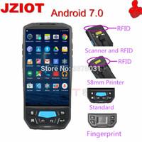 rfid reader android venda por atacado-varredor portátil novo do código de barras do bluetooth 1d 2d do pda do andróide / leitor handheld da freqüência ultraelevada RFID