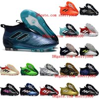 Wholesale White Men Ankle Shoes - 2018 ace 17 purecontrol FG ace 17.1 Crampons de football boots mens high top ankle soccer cleats dragon soccer shoes outdoor chuteiras men