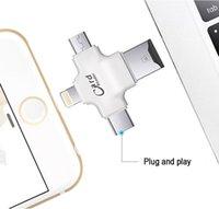 память на карте памяти оптовых-4 в 1 читателе карты памяти, переходнике карточки SD внешнего запоминающего устройства с молнией/яблоком/Андроидом / конвертером USB 2.0 / Type-C