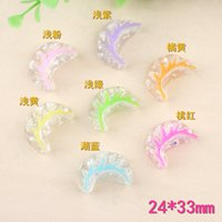 Wholesale china ornaments traditional resale online - 24 MM DIY resin coloured Dumpling charms China food kawaii flatback cabochon resin craft jewelry making fashion ornament