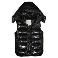 ingrosso giacca da piuma-Nuovo marchio di design Piumino invernale uomo e donna Classico piuma weskit giacche da donna gilet casual cappotto esterno più taglie: XS-XXXXL
