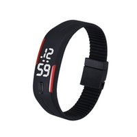 digital geführtes armband wasserdichte uhr großhandel-Mens Womens Rubber LED Watch Date Sport Armband Digital Armbanduhr Silikon Uhren wasserdicht Großhandelspreis G20