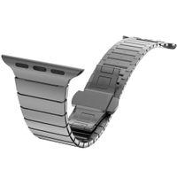 нержавеющая сталь оптовых-Top quality Buerfly clasp Lock Link loop band stainless steel  band link bracelet strap 38mm 42mm