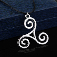 Wholesale teen wolf allison pendant resale online - 1 Pc Fashion Jewelry Silver Alloy Charm Teen Wolf Triskele Necklace Triskelion necklace Allison Argent