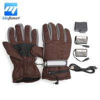Wholesale Electric Heat Gloves - Mofaner Windproof Motorbike Ski Electric Heated Gloves Snowboarding Work Outdoor Winter Gloves Hand Warmer Rechargeable Battery