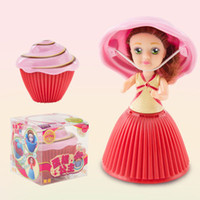 Wholesale magic girl figures for sale - Group buy hot Cupcake Scented Princess Doll Reversible Cake Roles Flavors Magic Toys for Girls oth262