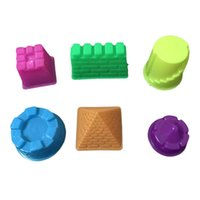 Wholesale Play Castles - Space mold sand Castle Playdough Tools Plasticine Molds Play Tool Set Kit For Kids Gift Magic color random