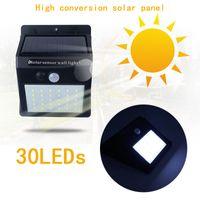 наружные солнечные бра оптовых-Водонепроницаемый 35LEDs солнечный свет панели солнечных батарей энергии движения PIR датчик Сид свет сада открытый путь чувство Солнечной настенный светильник