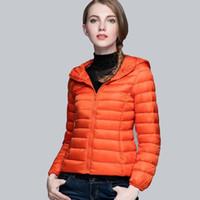 Wholesale yellow duck clothing online - Korean Version Ultralight Down Coat Winter Jacket Women White Duck Down Content Woman Designer Clothes Color Size S XL
