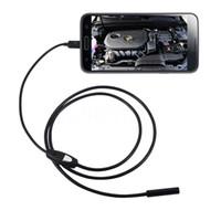 Wholesale Video Camera Laptop - Kebidu Photo Capture Camera 7mm Lens USB Endoscope Waterproof 6 LED Borescope 5M Tube Inspection Video For Android Laptop PC