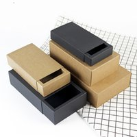 Wholesale paper craft storage - Kraft Paper Tea Package Wrap Drawer Style Colorful Candy Box For Wedding Party Supplies Tea Storage Box Many Size New 1hj5 ZZ