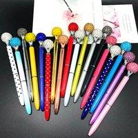 ingrosso arte commerciale-18styles penne a sfera rotante penna di cristallo piccolo diamante scuola di moda studente di lusso ufficio forniture d'arte regalo di affari FFA1086 120 pezzi