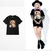 mezcla de tee al por mayor-camiseta de Pulp Fiction mixta de Virgin Mary graciosa 2018 Camisetas de algodón transpirable SUMMER June NUEVAS LLEGADAS de tops hombre mujer Hip hop