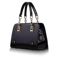 модные женские сумочки оптовых-Fashion Women Handbag Shoulder Bags PU Leather Ladies Messenger Hobo Bag Female Black Shopping Tote Purse Bag
