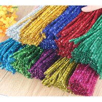 Wholesale chenille pipe for sale - Group buy Chenille Stems Pipe Cleaners Multi Color Art Craft DIY Flower Accessories Kid Toy Party Supplies xj C