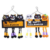 ingrosso decorazioni natalizie di gatto nero-Decorazioni di Halloween Creativo FAI DA TE Decorazioni per la casa Bar Home Door Hanging Big Black Cat Superior Qualità Festosa per feste 2 colori