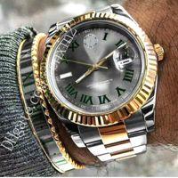 banda 18 venda por atacado-13 Cores Datejust 18 K Ouro Mens Relógio De Luxo 41mm Relógios De Aço Inoxidável Homens 2813 Mecânico Automático Presidente Desinger Jubileu Banda