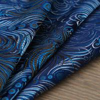 tecidos de fios venda por atacado-Estilo pavão Jacquard Metálico Tecido De Brocado, tecido jacquard 3D, fios de tecido tingido para Mulheres Vestido Casaco Saia Por metro