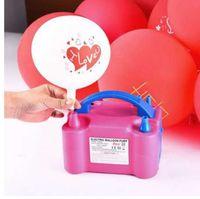 Wholesale 220V EU Plug Fashion Portable High Power Two Nozzle Air Blower Electric Balloon Inflator Pump