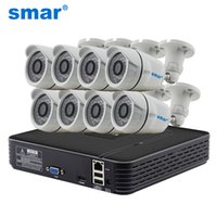 Wholesale 8ch h 264 - Smar H.264 8CH NVR 720P IP Camera Video Record HDMI 1080P Output IR Outdoor CCTV Security Camera System Home Surveillance Kit