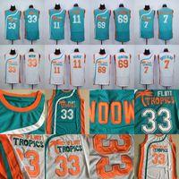 cbff4dd4220 Mens 7 Coffee Black 33 Jackie Moon 69 Downtown 11 ED Monix Flint Tropics  Semi Pro Movie Jersey 100% Stitched Basketball Jerseys