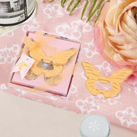 Wholesale butterfly bridal shower for sale - Group buy 50PCS Butterfly Bottle Opener Wedding Favors Bridal Shower Engagement Party Favors Event Keepsakes Birthday Gifts Anniversary Supplies