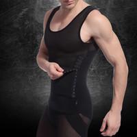 erkek şekillendirici iç çamaşırı toptan satış-Yeni Sıcak Satış Erkek Vücut Zayıflama Karın Bel Göbek Korseler Erkekler Için Kuşak Shapewear İç Shaper