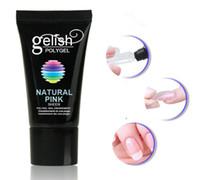 ingrosso gel solido dei chiodi-Gelatin POLY GEL Manicure nail film prolungato solido gelatina colla vassoio di carta estensione naturale trasparente / naturale bianco / rosa naturale
