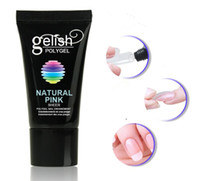 Wholesale white gel nails for sale - Gelish POLY GEL Manicure nail film extended solid jelly glue paper tray extension glue natural clear natural white natural pink