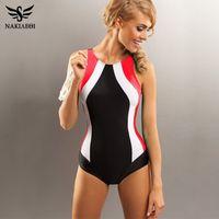 Wholesale Sport One Piece - 2018 Professional Swimwear One Piece Swimsuit Women Backless Monokini Swimsuit Sport Bodysuit Beach Bathing Suit Swim