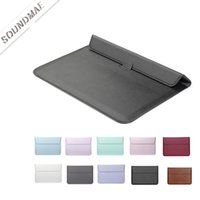 Wholesale 12.2 inch tablets online - MACBOOK Sleeve Case With Stand Function PU Leather Laptop Carrying Protection Case For MACBOOK INCH PRO RETINA OPP BAG Soundmae
