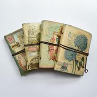 vintage binder großhandel-Retro Leder Spiral Notebook Travel Journal Tagebuch Buch Vintage Ring Binder Geschenk Notebook leer Kraftpapier Büro Schulbedarf