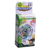 brinquedos de beyblade venda por atacado-1 pc Spinning Top Beyblade Explosão Com Lançador E Caixa Original 3056 Fusão De Plástico De Metal 4D Clássico Brinquedos Presente Para Crianças Adultos