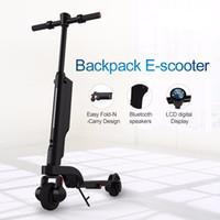 neue kicks großhandel-Neuer faltender elektrischer Roller X6 Fahrrad-faltbarer Tritt-Roller 6A Escooter mit Stoßdämpfer mit Bluetooth APP-Energie-Bank