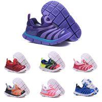 dinamo serbest toptan satış-Çocuk Spor Ayakkabıları Nike air Dynamo Free (TD) Bahar ve Yaz Modelleri Tırtıl Çocuk Ayakkabıları Moda kaymaz Erkek ve Kız Hollow Casual Ayakkabı