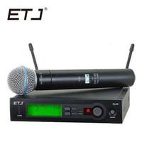 el profesyonel kablosuz mikrofon sistemi toptan satış-En Kaliteli SLX SLX24 BETA58 UHF Profesyonel Kablosuz Mikrofon Sistemi Süper Kardioid BETA El Mikrofonun Mic