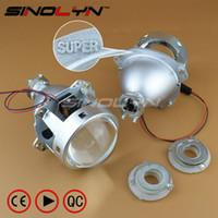h7 projecteur phare achat en gros de-SINOLYN Super 3.0 '' H1 HID Bi Xénon Projecteur Lentille Phare H1 H4 H7 Phares Lentille Métal Complet Car Styling Partie Automobile