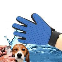 ingrosso pettini di capelli in silicone-New Pet Cleaning Brush Pettine per cani Guanto in silicone Bath Mitten Pet Dog Cat Massage Depilazione Grooming Magic Deshedding Glove