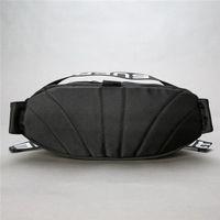 Wholesale men s leather backpacks - S letter 18SS 44th Waist Bag Shoulder Bag Full LOGO Waist backpack Shoulder Bag Messenger Chest Black