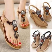 be6ee1faade3ca Sandals Exquisite Diamond Bohemian Summer Vintage Women Sandals High Wedges  Fashion Beach Beads Sandals Women Shoes