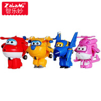 Wholesale anime robots toys resale online - 8pcs Set Mini Airplane Anime Movie Super Wings Model Toy Transformation Robot Action Figures Superwings Toys For Children Kids